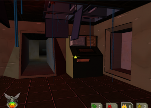 The yellow Scout bugs are nimbler and faster, and can get access to otherwise restricted areas, such as this control room.