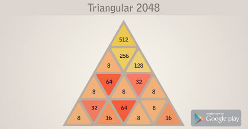Get Triangular 2048 for Android here, free version with ads.