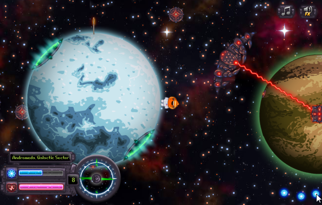 Screenshot from Planet Dash