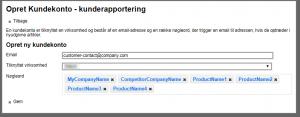 Customer registration screenshot