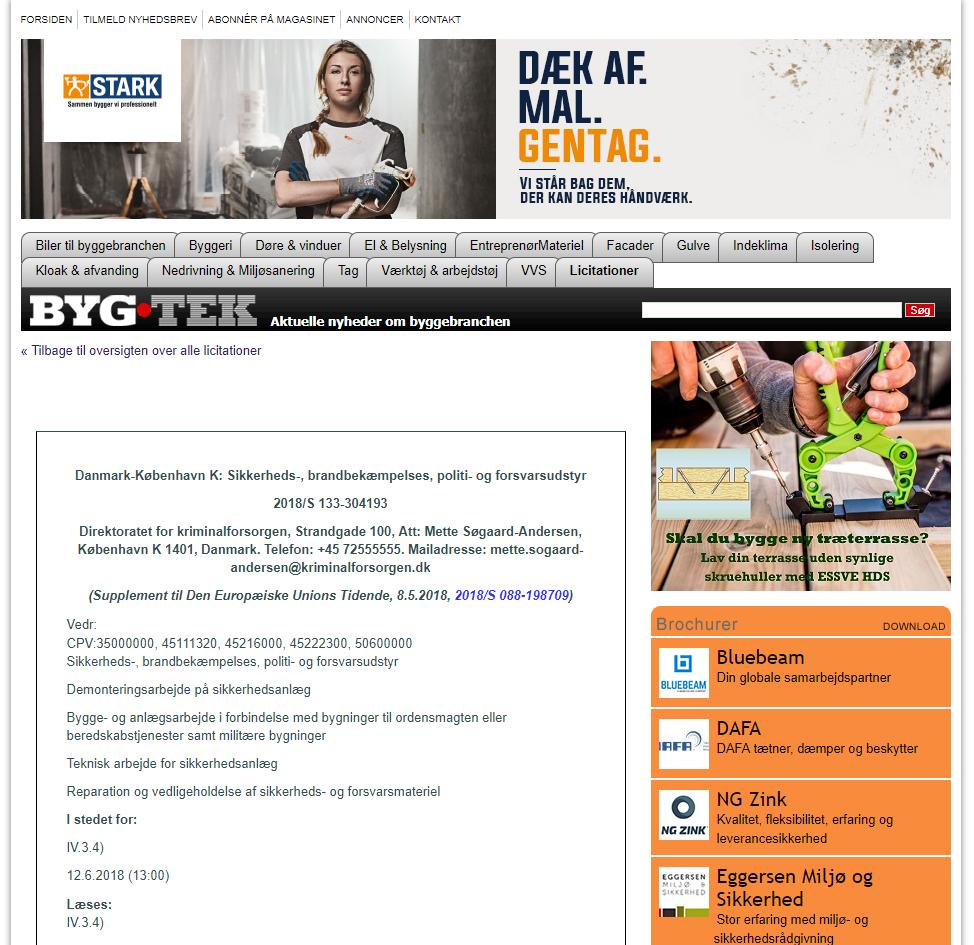screenshot from bygtek.dk licitationer